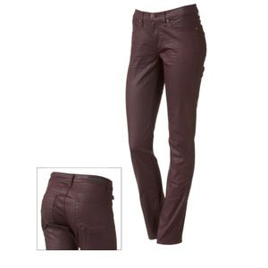 Rock and Republic Berlin Coated Skinny Jeans NWT